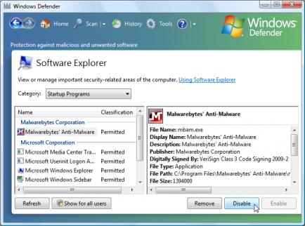 stop application startup windows 7