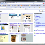 Google's Toolbar places thumbnails of your most visited Web sites on your browser's New Tab page.
