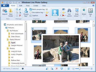 Select the photos you want to resize and send through e-mail.