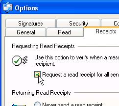 Outlook Express' Request Return Receipt Feature