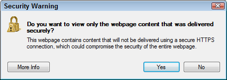 Do you want to view only the webpage content that was delivered securely?