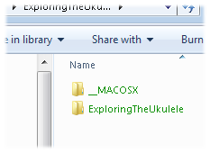 File names appearing in green letters are encrypted.
