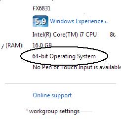 64-bit Operating System