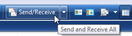 Windows Mail's Send/Receive button