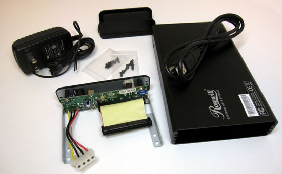 Take apart your portable hard drive enclosure.
