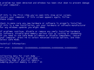 BSOD, short for the Blue Screen of Death, means your computer has crashed unexpectedly.