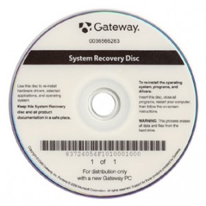 A System Recovery disc