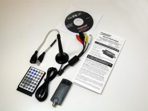 A USB TV tuner, the Hauppauge WinTV-HVR-950Q