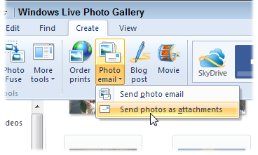 From the Photo Email drop-down menu, choose Send Photos as Attachments.