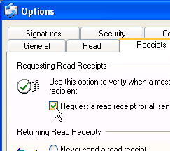 Outlook Express' Request Return Receipt Feature